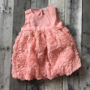 formal first impressions peach floral dress